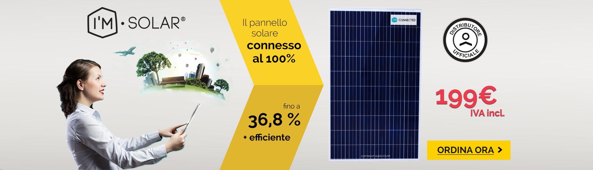 Acquista solari pannelli i'M CONNECTED